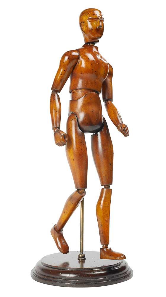 Modell Holz Mensch