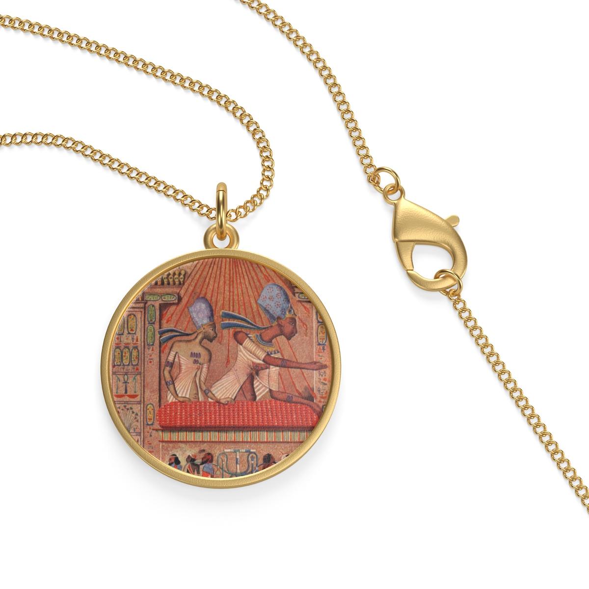 Ägyptische Medaillon Halskette