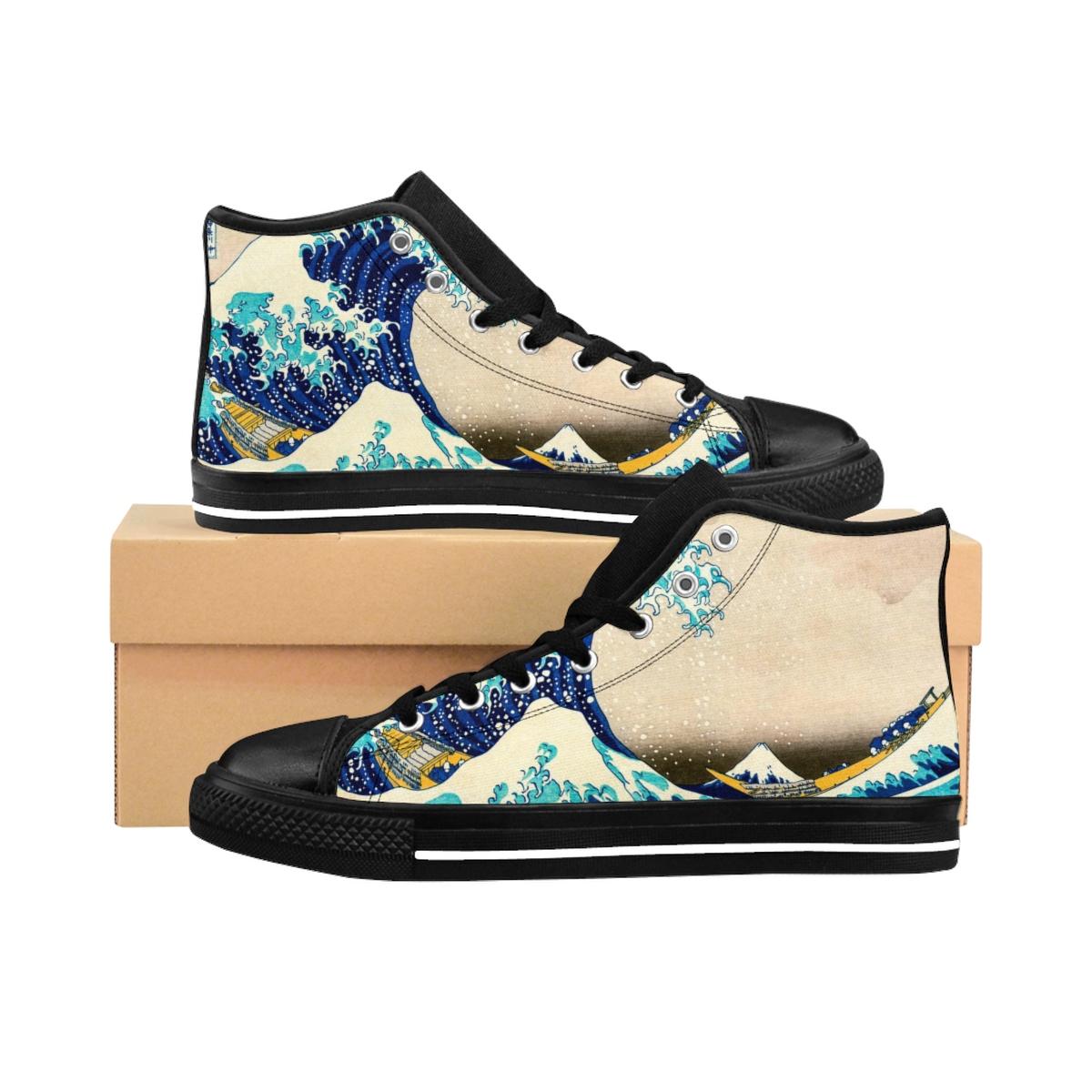 Sneaker, Die große Welle vor Kanagawa von Katsushika Hokusai, Japan